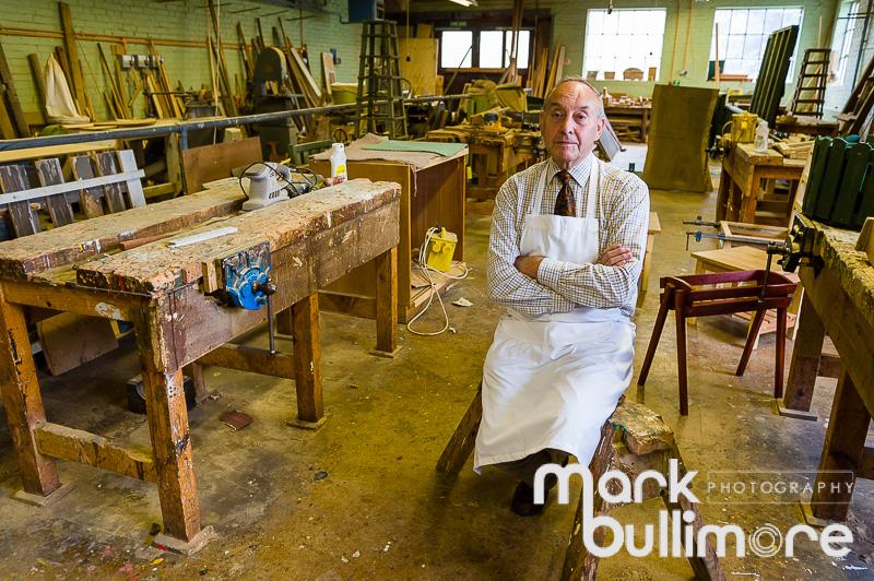 Man in Woodwork Workshop